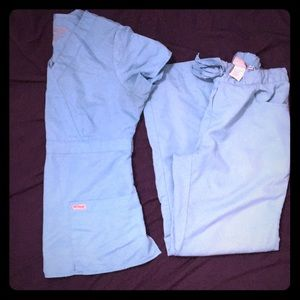 Lot of Scrubs! 2 sets+ button down jacket & 1 top